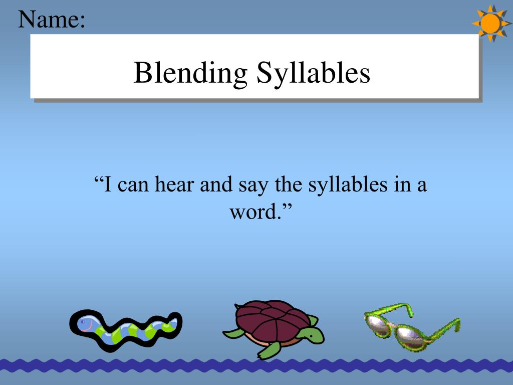 blending syllables l.