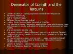 demeratos of corinth and the tarquins