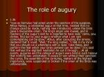 the role of augury
