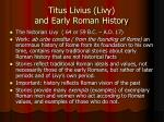titus livius livy and early roman history