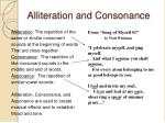 alliteration and consonance