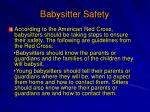 babysitter safety
