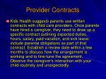 provider contracts