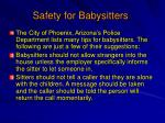 safety for babysitters