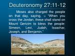 deuteronomy 27 11 12