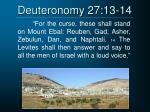 deuteronomy 27 13 14