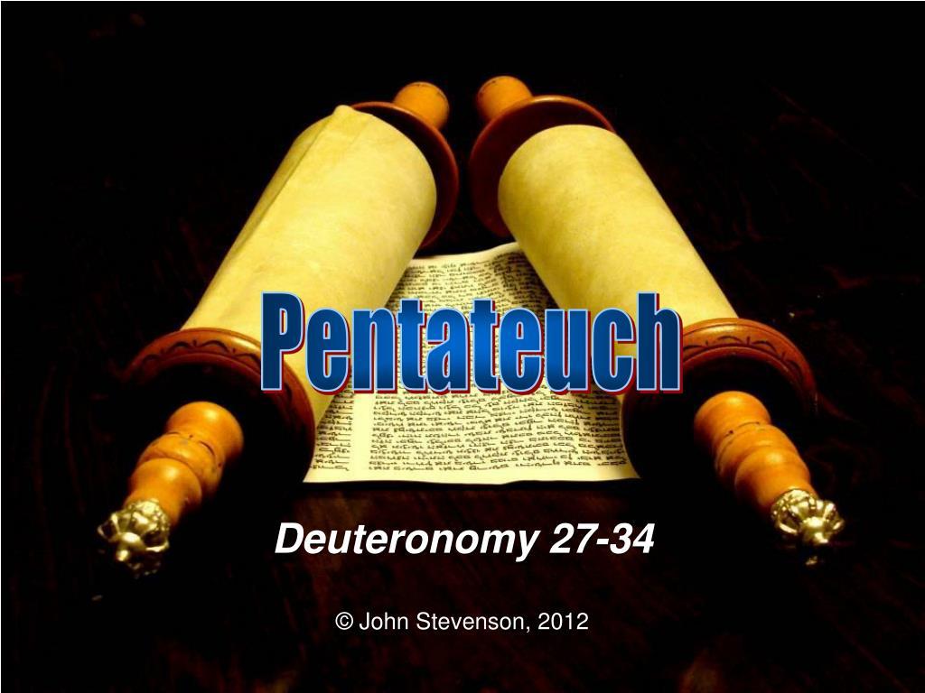 deuteronomy 27 34 l.