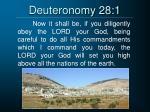 deuteronomy 28 1