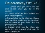 deuteronomy 28 16 19