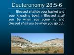 deuteronomy 28 5 6