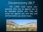 deuteronomy 28 7