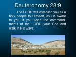 deuteronomy 28 9