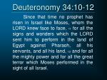 deuteronomy 34 10 12