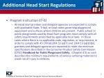 additional head start regulations