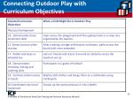 connecting outdoor play with curriculum objectives35