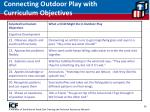connecting outdoor play with curriculum objectives36
