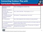 connecting outdoor play with curriculum objectives37