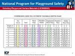 national program for playground safety
