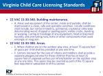 virginia child care licensing standards
