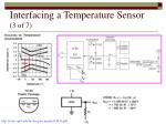 interfacing a temperature sensor 3 of 7