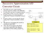 successive approximation a d converter circuit
