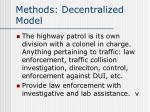 methods decentralized model