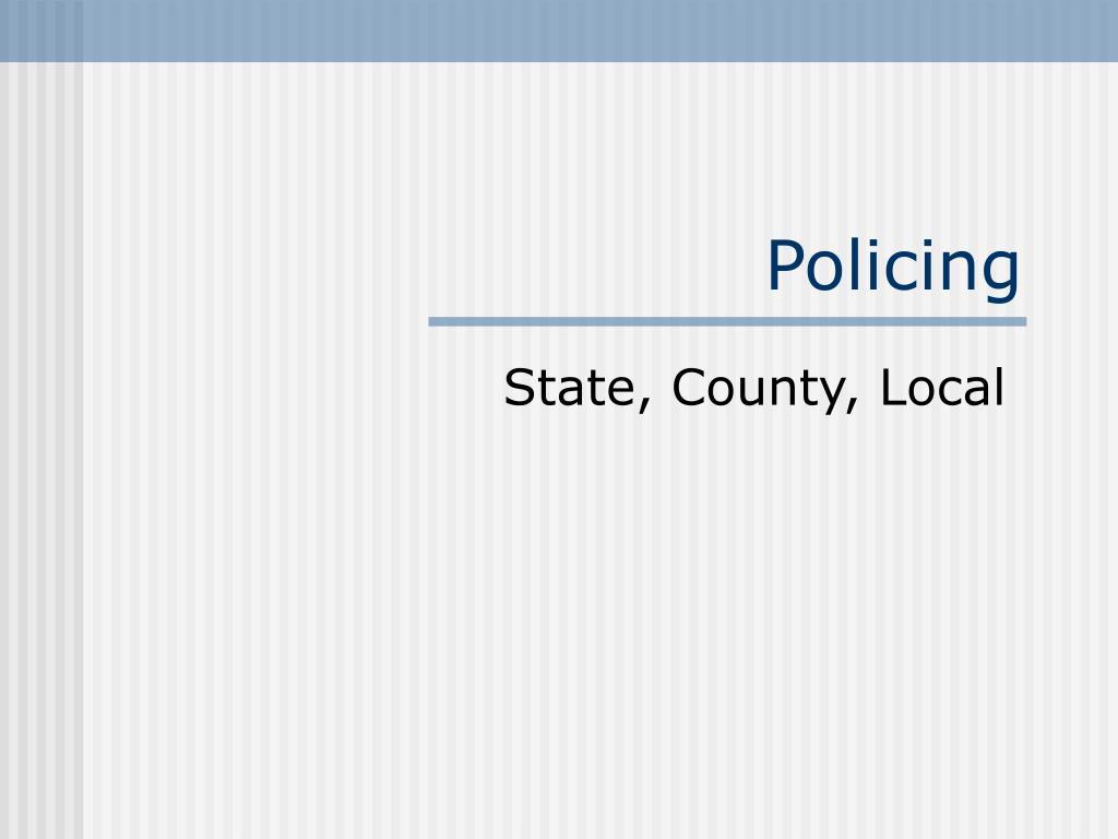 policing l.