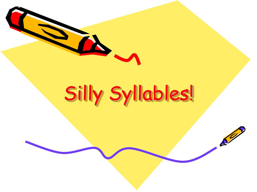 silly syllables l.