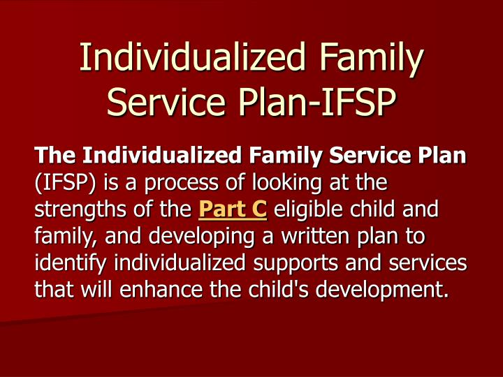 individualized family service plan ifsp n.