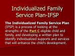 individualized family service plan ifsp
