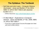 the syllabus the textbook