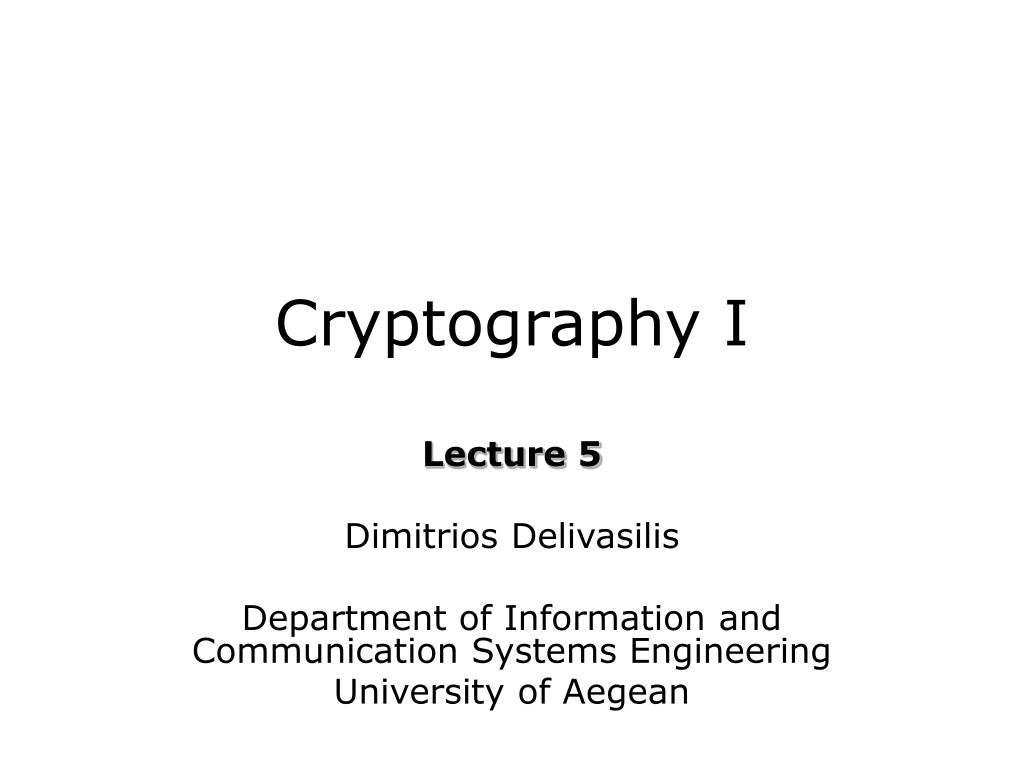 cryptography i l.