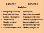 precede proceed modelleri