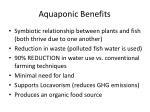 aquaponic benefits