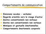 comportements de communication
