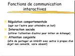 fonctions de communication interactives