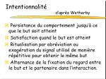 intentionnalit d apr s wetherby