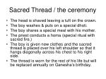 sacred thread the ceremony