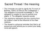 sacred thread the meaning