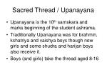 sacred thread upanayana