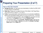 preparing your presentation 2 of 7