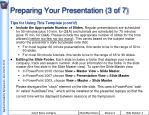 preparing your presentation 3 of 7
