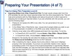 preparing your presentation 4 of 7