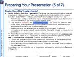 preparing your presentation 5 of 7