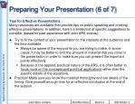 preparing your presentation 6 of 7