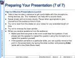 preparing your presentation 7 of 7