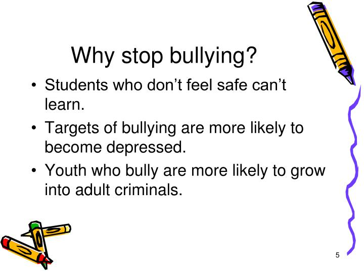 bullying teenagers are more likely to commit Report any involvement with bullying behavior are more likely to report high levels of suicide-related  • we know enough about the relationship between bullying and suicide-related behavior to make evidence-based recommendations to improve prevention efforts.