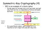 symmetric key cryptography 4