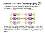 symmetric key cryptography 5