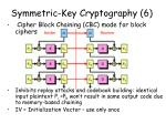 symmetric key cryptography 6